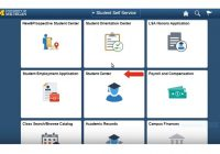 student self-services admin screen
