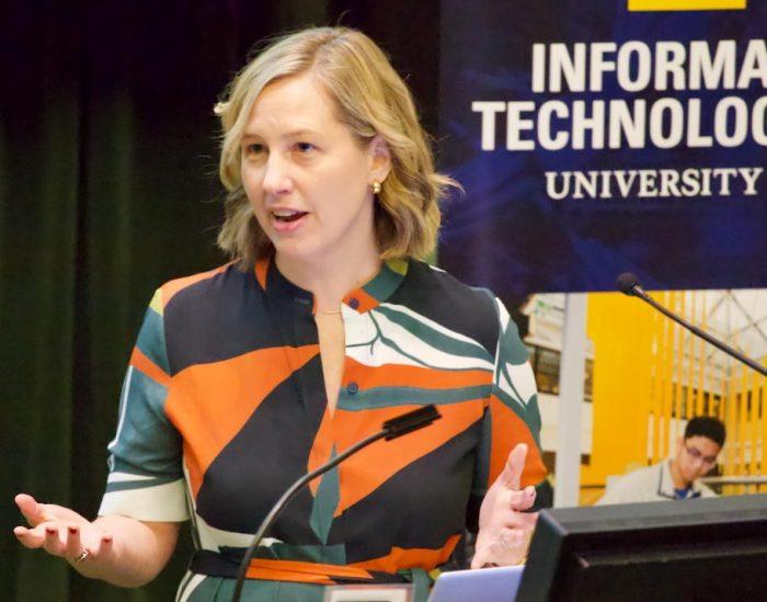 Photo of Kathleen Kingsbury, keynote speaker at Privacy@Michigan
