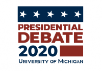 Presidential Debate 2020 University of Michigan logo