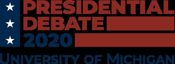Presidential Debate 2020 University of Michigan logo