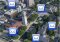 mail icons floating over aerial photo of central campus