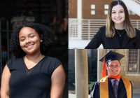 Three students from the Pelham Scholars Program