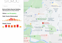 A map showing building occupancy.