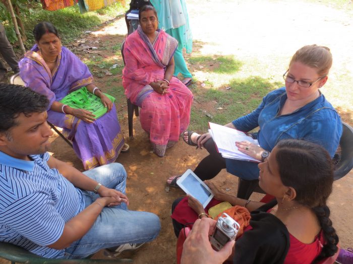 Jackie Wolf (right) works with medical staff in Western Bengal.