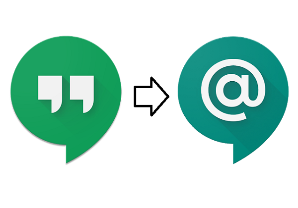 Icons for Google Hangouts and Google Chat