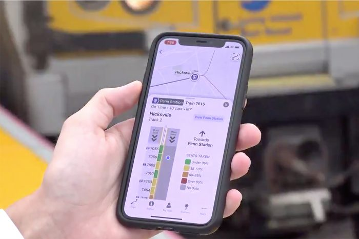 The TrainTime app enables Long Island commuters to view real time train locations and car capacity, and receive notifications when it's time to board. (Credit: MTA Long Island Rail Road)