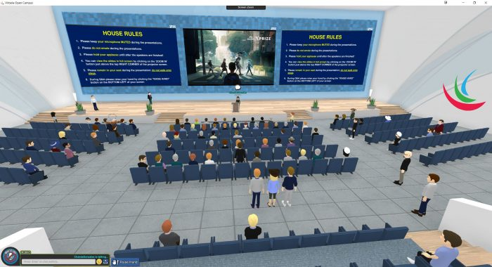 screenshot of virual lecture hall