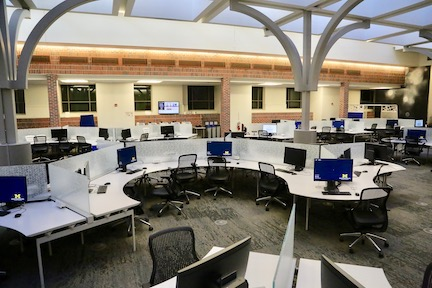 "The ""Fishbowl"" campus computing site."