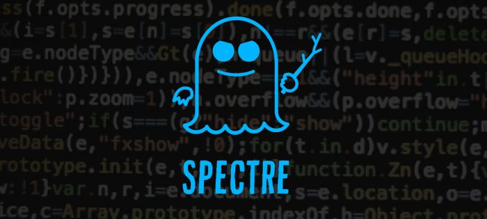 Spectre ghost image over code in background