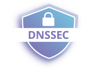 lock symbol on shield that says DNSSEC