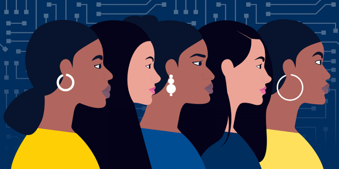 illustration of diverse women