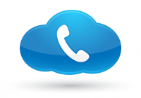 telephone handset in a blue cloud