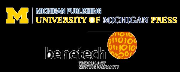 U-M press & benentech logos