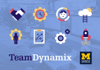 TeamDynamix and University of Michigan logos