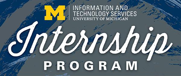 ITS Internship Program banner with block M