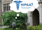 """Student walking on campus with a thought bubble showing """"HIPAA?"""""""