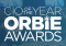CIO of the Year, ORBIE Awards. White text on a blue decorative background.
